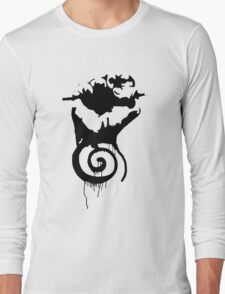 Fist with a swirly thing under it. Long Sleeve T-Shirt