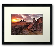 Sunset on Great Staple Tor Framed Print