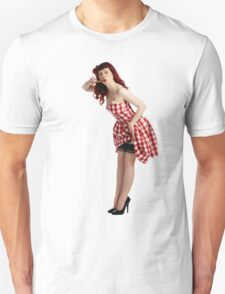 UK Pin Up Stephanie Jay Red Diner T-Shirt