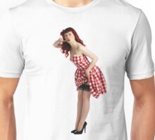 UK Pin Up Stephanie Jay Red Diner Unisex T-Shirt