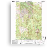 USGS Topo Map Washington State WA Mount Wow 242599 2000 24000 Canvas Print