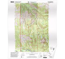USGS Topo Map Washington State WA Mount Wow 242599 2000 24000 Poster