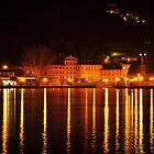 Riva del Garda at Night  by Finbarr Reilly