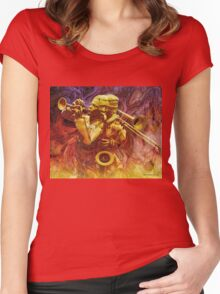 Brass Trio Women's Fitted Scoop T-Shirt