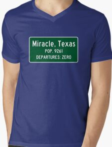 MIRACLE TEXAS THE LEFTOVERS Mens V-Neck T-Shirt