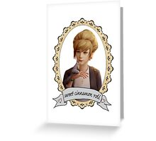 Kate Portrait (Transparent) - Life is Strange Greeting Card