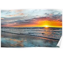Walney island sunset Poster