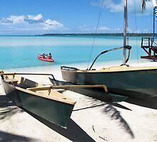 yacht on the beach by Anne Scantlebury