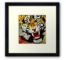 Ferocious Tiger! Framed Print