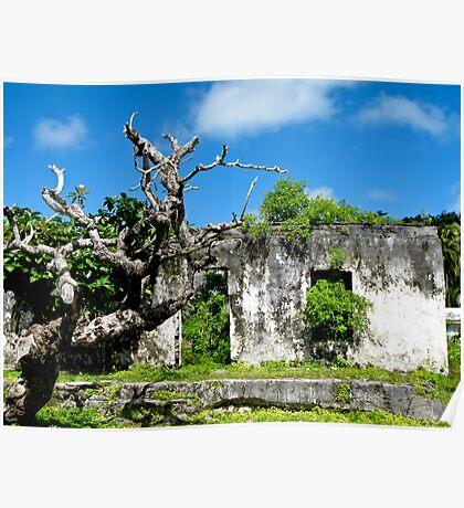 ruins at Rarotonga Poster