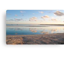 clouds, reflection and sand Canvas Print