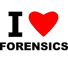 I Love Forensics Photographic Print