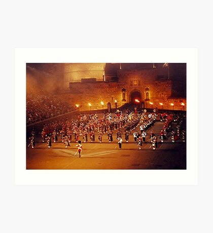 MASSED PIPE BANDS - EDINBURGH TATTOO..............! Art Print