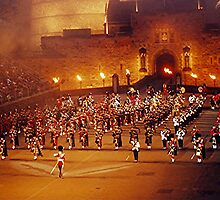 MASSED PIPE BANDS - EDINBURGH TATTOO..............! by Roy  Massicks