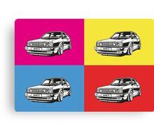 Volkswagen Golf Car Pop art Canvas Print