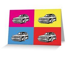 Volkswagen Golf Car Pop art Greeting Card