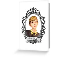 Victoria Portrait (Transparent) - Life is Strange Greeting Card