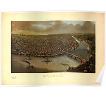 Panoramic Maps St Louis Poster