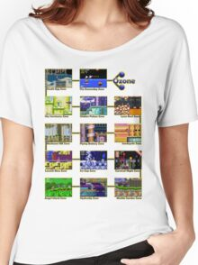 Act 1 - Sonic The Hedgehog Retro Stages Women's Relaxed Fit T-Shirt