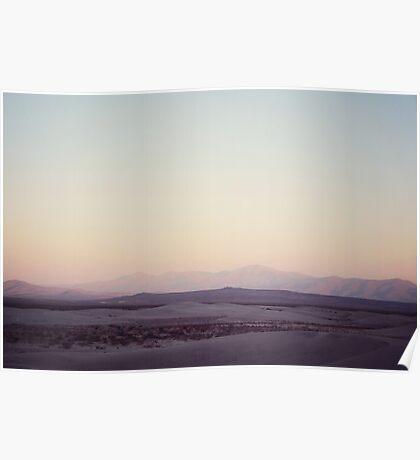 Gloaming desert Poster