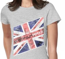 London 2012 - Londinium MMXII Union Jack Rose Womens Fitted T-Shirt