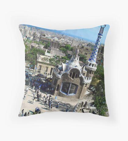 I Love Barcelona 19 Throw Pillow