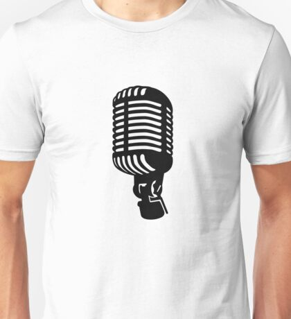 Microphone singer Unisex T-Shirt
