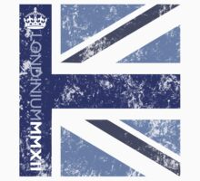 London 2012 - Londinium MMXII Union Jack Blue One Piece - Long Sleeve
