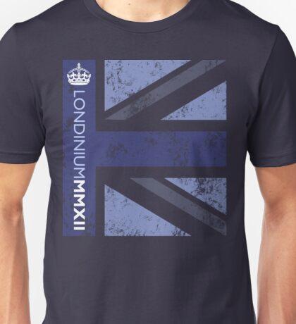 London 2012 - Londinium MMXII Union Jack Blue Unisex T-Shirt