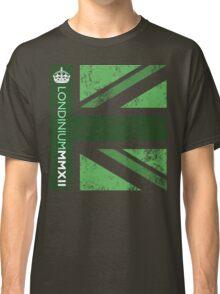 London 2012 - Londinium MMXII Union Jack Green Classic T-Shirt