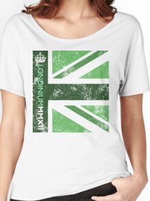 London 2012 - Londinium MMXII Union Jack Green Women's Relaxed Fit T-Shirt