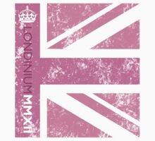 London 2012 - Londinium MMXII Union Jack Pink Kids Clothes