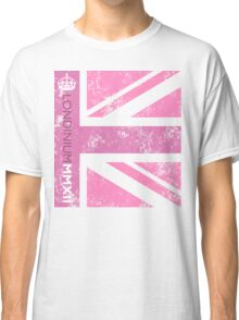London 2012 - Londinium MMXII Union Jack Pink Classic T-Shirt