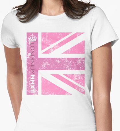 London 2012 - Londinium MMXII Union Jack Pink Womens Fitted T-Shirt
