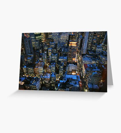 New York skyscrapers Greeting Card