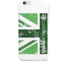 London 2012 - Londinium MMXII Union Jack Green iPhone Case/Skin