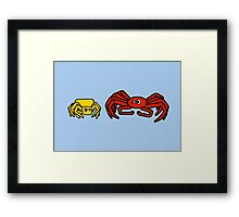Crab Spider and Spider Crab Framed Print