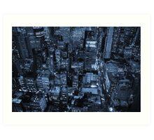 New York skyscrapers, cyanotype Art Print