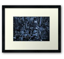 New York skyscrapers, cyanotype Framed Print
