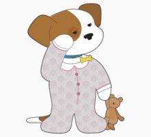 Cute Puppy Pajamas Kids Tee