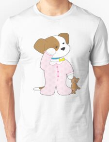 Cute Puppy Pajamas Unisex T-Shirt