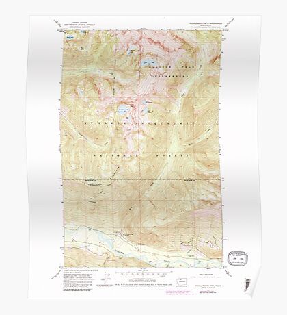 USGS Topo Map Washington State WA Huckleberry Mtn 241595 1966 24000 Poster