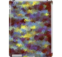 abstract blue and yellow brush painting iPad Case/Skin