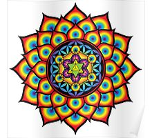 Flower of Life Metatron's Cube Poster