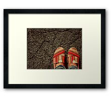 Shoes on  the Cement Framed Print