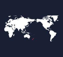 World Map New Zealand One Piece - Long Sleeve