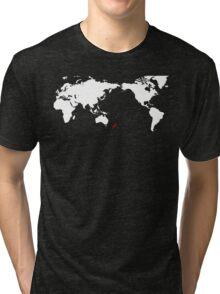World Map New Zealand Tri-blend T-Shirt