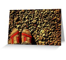 Shoes on the Rocks Greeting Card