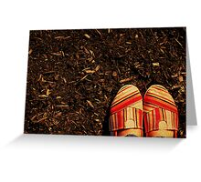 Shoes in the Mulch Greeting Card