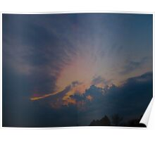 Halo sunset Poster
